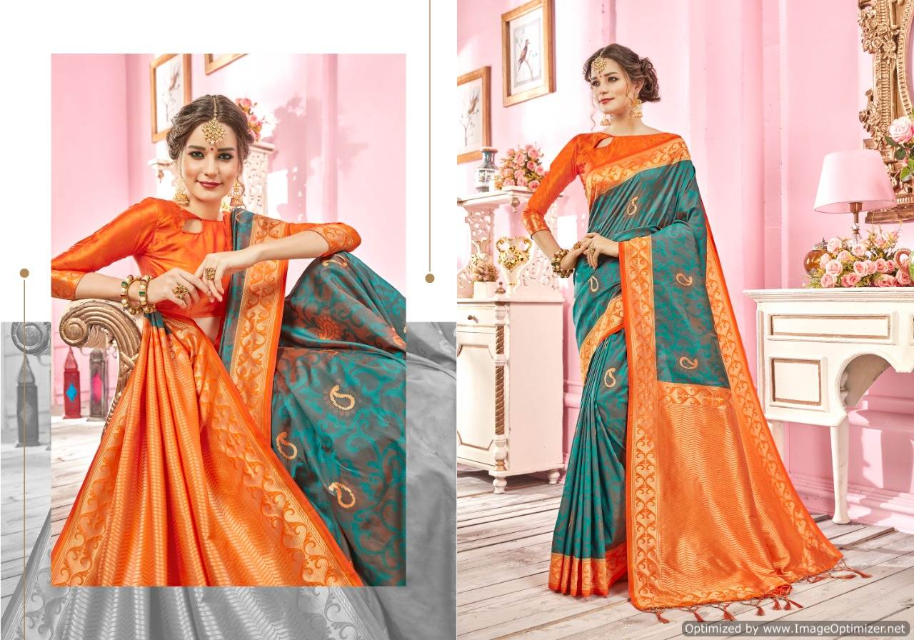Ynf Ragini Silk Banarasi Silk Saree Wholesale Catalog collection 4