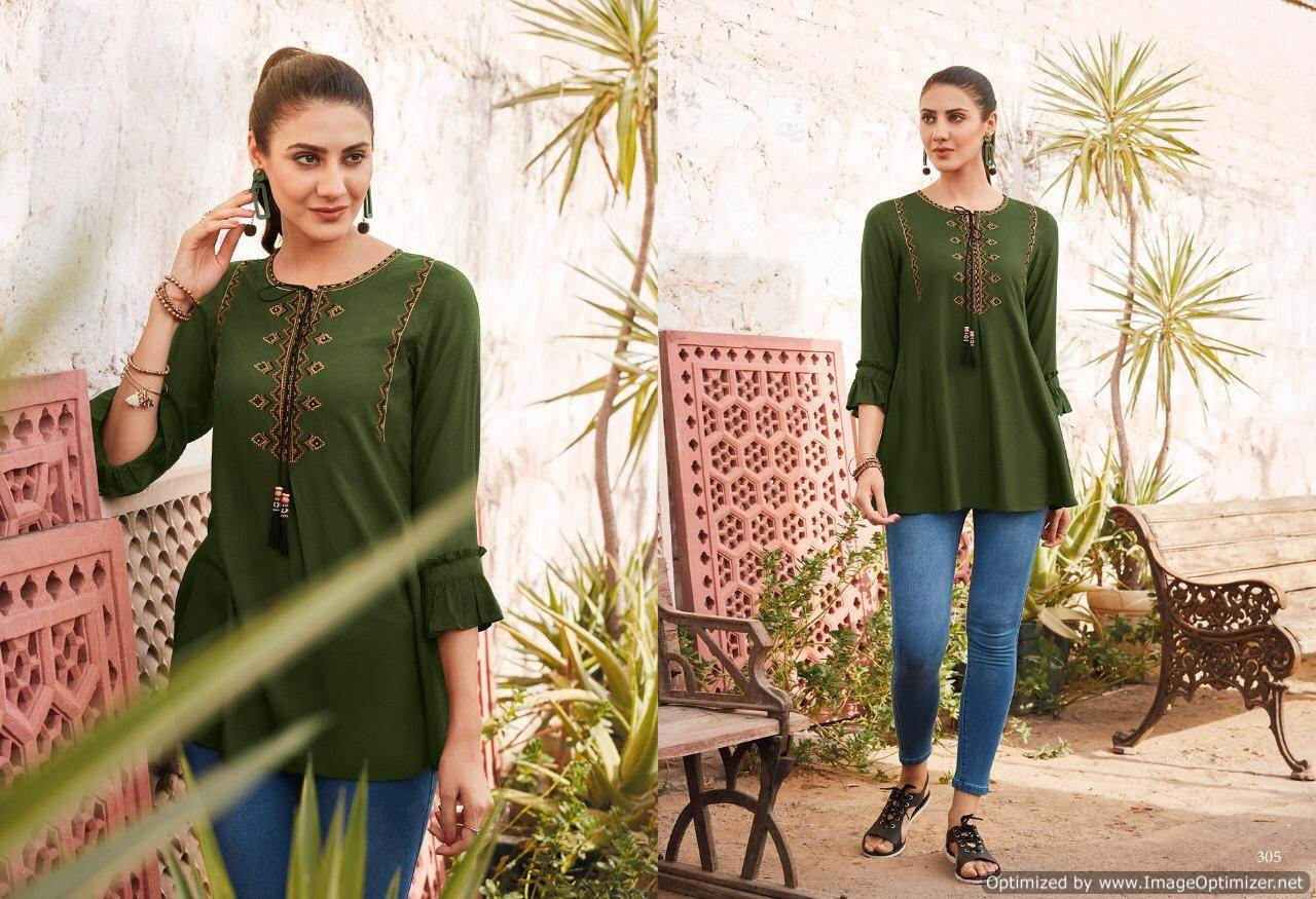 Lt Essentials 3 Rayon Western Short Tops New Collection collection 3